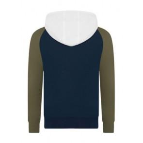 Hugo Boss kids boys hooded zipper vest in de kleur army green groen