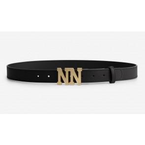 Nik en Nik girls Amora logo belt riem in de kleur zwart
