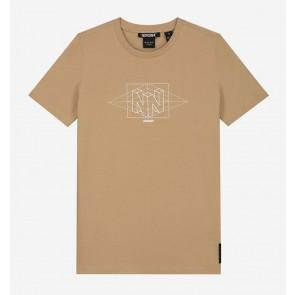Nik en Nik kids boys Wesley t-shirt in de kleur clay beige zand