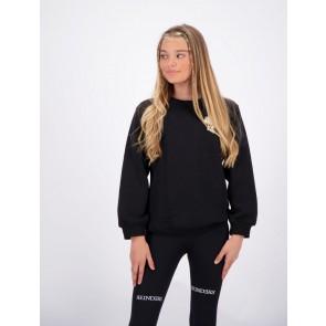 Reinders girls sweater trui met headlogo in de kleur zwart