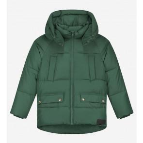 Nik en Nik kids girls winterjas jetly puffer jacket in de kleur pine green groen