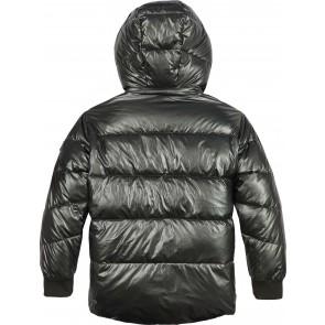 Tommy Hilfiger kids girls winterjas metallic puffer jacket in de kleur metallic groen