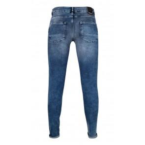 Rellix boys jeans broek Xyan skinny used denim in de kleur jeansblauw