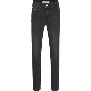 Calvin klein kids girls super skinny mid rise jeans broek in de kleur zwart