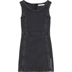 Calvin Klein kids girls spijkerjurk sleeveless denim dress in de kleur antraciet