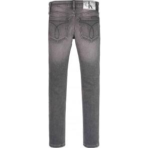 Calvin Klein kids girls skinny mid rise jeans broek in de kleur antraciet
