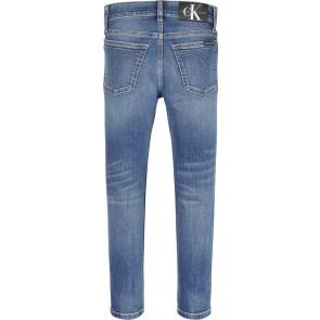 Calvin klein kids boys tapered jeans broek in de kleur jeansblauw