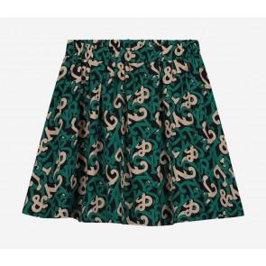 Nik en Nik girls Ivy logo skirt rok in de kleur pine green groen