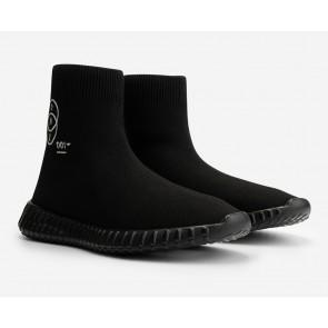 Nik en Nik kids Jessy one sneaker sokschoen in de kleur zwart