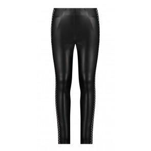 AI&KO kids girls Panna lange broek van imitatie leer in de kleur zwart