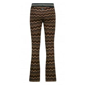 Retour jeans denim deluxe Cherry flared broek met print in de kleur bruin/goud