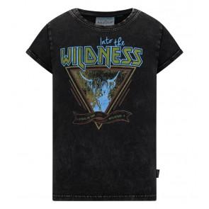 Retour jeans denim deluxe girls Mea t-shirt in de kleur antraciet grijs