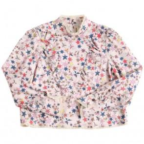 Zadig en Voltaire kids girls blouse van viscose met sterren in de kleur zachtroze