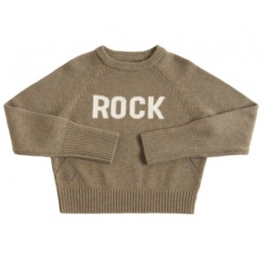 Zadig en voltaire kids girls gebreide sweater trui Rock in de kleur olijf groen