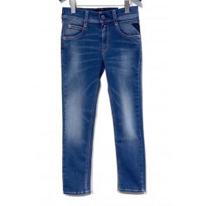 Replay wally's hyperflex super slim fit jeans broek in de kleur jeansblauw