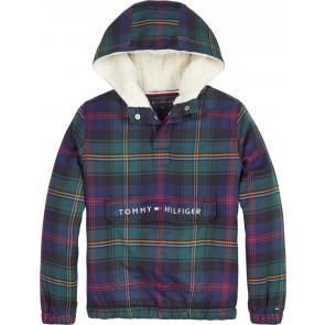 Tommy Hilfiger kids boys hooded sherpa popover trui met teddy voering