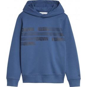 Calvin Klein kids boys dimension logo hoodie sweater trui in de kleur blauw