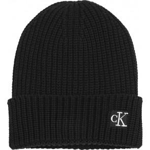 Calvin Klein kids uniseks modern essential beanie in de kleur zwart