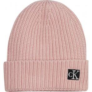 Calvin Klein kids uniseks modern essential beanie in de kleur roze