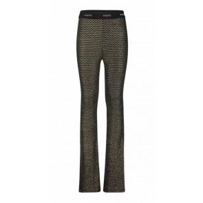 AI&KO kids girls flared pants broek Craig zig zag in de kleur zwart/goud