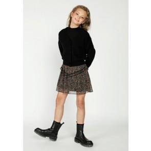AI&KO kids girls Deicy flower skirt rok met bloemenprint in de kleur black dessin