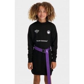 Black Bananas kids jr girl cyber dress sweatjurk in de kleur zwart