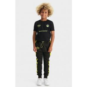 Black Bananas kids JR analog trackpants sweatpants in de kleur zwart/geel