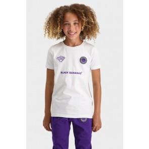 Black Bananas kids JR Monkey tron t-shirt in de kleur wit