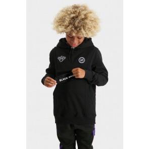 Black Bananas kids JR anorak switch hoody sweater trui in de kleur zwart