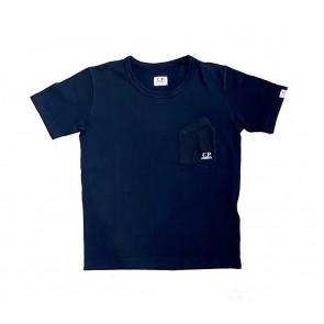 CP Company undersixteen kids shortsleeve t-shirt met borstzakje in de kleur zwart