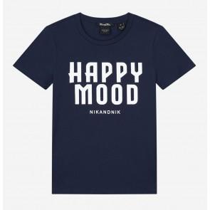 Nik en Nik girls happy t-shirt in de kleur donkerblauw