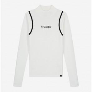 Nik en Nik girls carrie pullover top met logo in de kleur off white