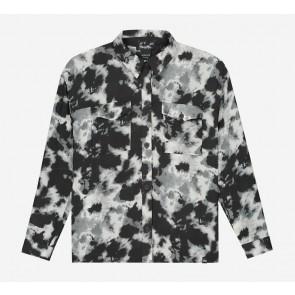 Nik en Nik girls Nery tie dye shirt blouse in de kleur zwart/wit
