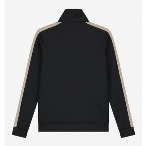 Nik en Nik boys Walden trackjacket vest in de kleur zwart/beige