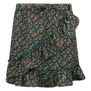 Retour jeans girls Romilda rok met ruches en bloemenprint in de kleur zwart