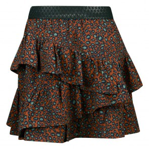 Retour jeans girls Roos rok met panterprint in de kleur brique roestbruin