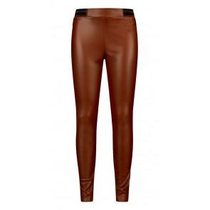 Retour jeans girls imitatie leren broek in de kleur toffee bruin