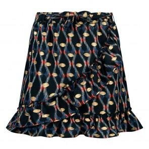 Retour jeans girls Mora rok met print in de kleur zwart/goud