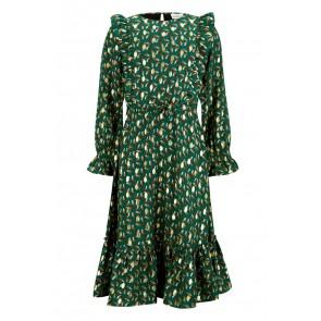 Retour jeans girls Hermine lange jurk in de kleur forest green groen