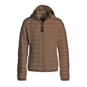 Parajumpers kids girls winterjas juliet jacket in de kleur dark earth donkerbruin