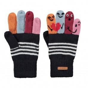 Barts kids puppet gloves gebreide handschoenen met poppetjes in de kleur grijs