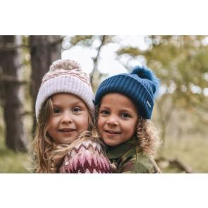 Barts kids Kizy beanie muts met pompom in de kleur pink multicolor