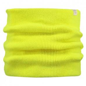 Barts kids Kinabalu col sjaal scarf in de kleur fluor yellow geel