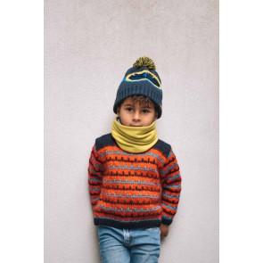 Barts kids Frient beanie muts wrijf bril in de kleur donkerblauw