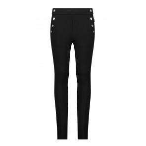 AI&KO kids girls sol stretch broek met drukkers in de kleur zwart