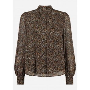 Circle of trust girls Diona blouse met soft flower print in de kleur zwart/bruin