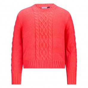 Retour jeans kids girls Beppie gebreide trui in de kleur neon coral