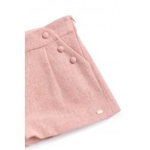 Tartin et Chocolat girls pink wool shorts in de kleur zachtroze