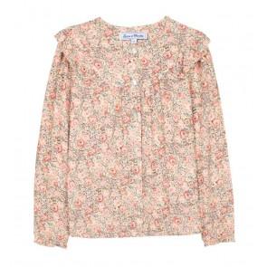 Tartin et Chocolat girls blouse tunic met bloemenprint in de kleur zachtroze