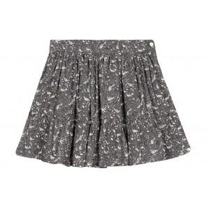 Tartin et Chocolat girls skirt rok met vogel print in de kleur grijs